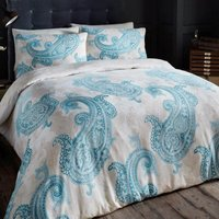 Gaveno Cavailia Paisley Crescent Teal Duvet Cover and Pillowcase Set Teal (Blue)