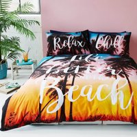 Gaveno Cavailia Life is Better at the Beach Duvet Cover and Pillowcase Set Orange