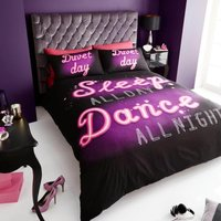 Gaveno Cavailia Sleep All Day Dance All Night Duvet Cover and Pillowcase Set Plum (Purple)