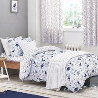 Bianca Cotton Space Duvet Cover and Pillowcase Set Navy (Blue)