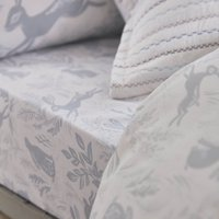 Bianca Cotton Hare Fitted Sheet Duck Egg (Blue)