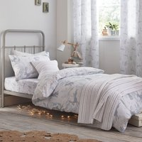 Bianca Cotton Hare Duvet Cover and Pillowcase Set Duck Egg (Blue)