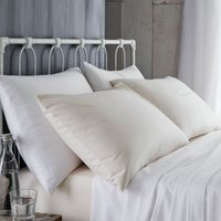 Bianca Cotton Brushed Flannelette Cream Pillowcase Pair Cream (Natural)