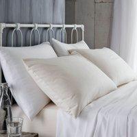 Bianca Cotton Brushed Flannelette White Pillowcase Pair White