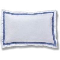 Bianca Cotton Chambray Pleats Oxford Pillowcase White