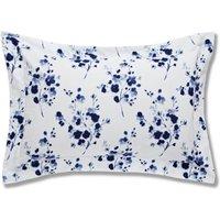 Bianca Cotton Sprig Blue Oxford Pillowcase Navy (Blue)