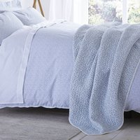 Bianca Cotton Delicate Print Bedspread Duck Egg (Blue)