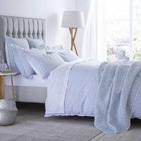 Bianca Cotton Delicate Print Duvet Cover and Pillowcase Set Duck Egg (Blue)