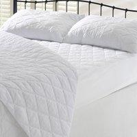 Dacron Coolmax Mattress Protector White