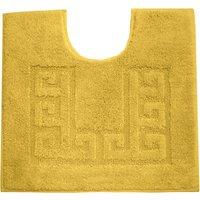 Luxury Cotton Non-Slip Mustard Pedestal Mat Mustard (Yellow)