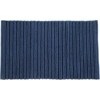 Cable Knit Navy Bath Mat Navy (Blue)