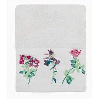 Botanical Meadow White Hand Towel White