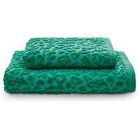 Leopard Print Towel Teal (Green)