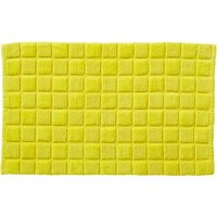 Sculptured Squares Yellow Bath Mat Yellow