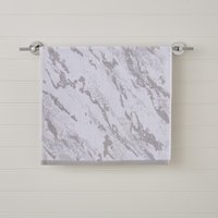 Grey Marble Hand Towel Grey