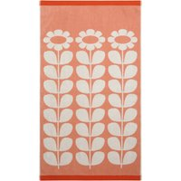 Olive and Orange Tall Flower Blush Towel Blush (Pink)