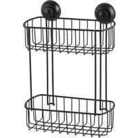 2 Tier Black Wire Suction Caddy Black