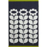 Olive and Orange Tall Flower Slate Towel Slate (Grey)