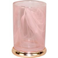 5A Fifth Avenue Pink Marble Effect Glass Tumbler Pink