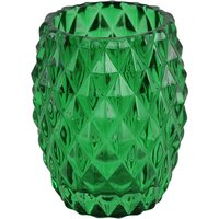 Embossed Glass Tumbler Green