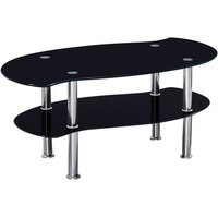 colby black glass coffee table black