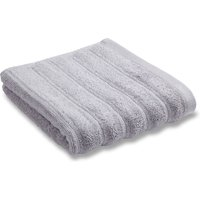 Bianca Cotton Grey Ribbed Set of 2 Face Cloths Grey