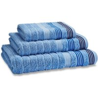 Catherine Lansfield Chambray Garrat Towel Blue
