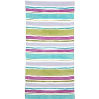 Impressionist Striped Beach Towel Multicoloured