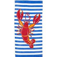 Lobster Beach Towel Multicoloured