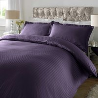 Sateen Purple Stripe 300 Thread Count Duvet Cover Set Purple