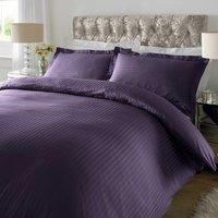 Sateen Purple Stripe 300 Thread Count Duvet Cover Set Purple