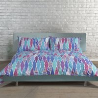 Deyongs Purple Peacock Feather Duvet Cover Purple