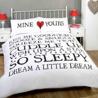 Mine and Yours White Duvet Cover Set White