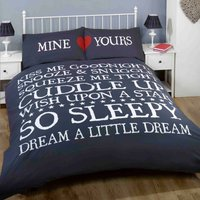 Mine and Yours Navy Duvet Cover Set Blue