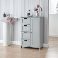 Grey Shaker Bathroom Unit Grey