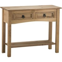 Birlea Corona Pine 2 Drawer Console Table With Shelf Natural