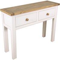 kansas white console table white
