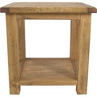 sanford pine lamp table brown
