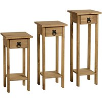corona pine set of 3 plant stands natural