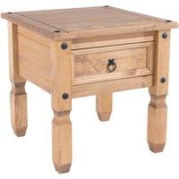 corona pine lamp table natural