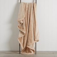 Latte Raschel Cosy Throw Latte Brown