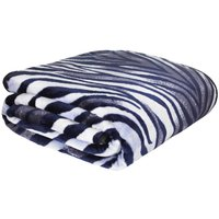 Zebra Raschel Cosy Throw Multi Coloured