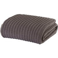 Charcoal Grey Chunky Knit Throw Charcoal Grey