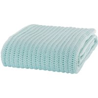 Duck Egg Blue Chunky Knit Throw Duck Egg Blue