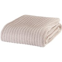 Natural Beige Chunky Knit Throw Natural