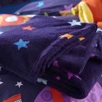 Purple Outer Space Super Soft Throw Purple