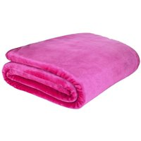 Pink Raschel Cosy Throw Pink