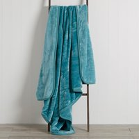 Jade Raschel Cosy Throw Blue