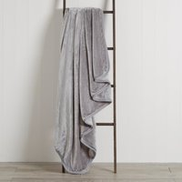 Grey Raschel Cosy Throw Grey