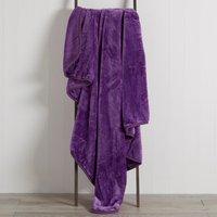 Aubergine Raschel Cosy Throw Purple